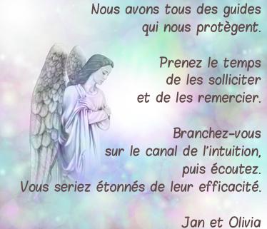 Ange gardien prier jan olivia citation